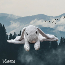 freetoedit crochet stuffedtoy rabbit amigurumi