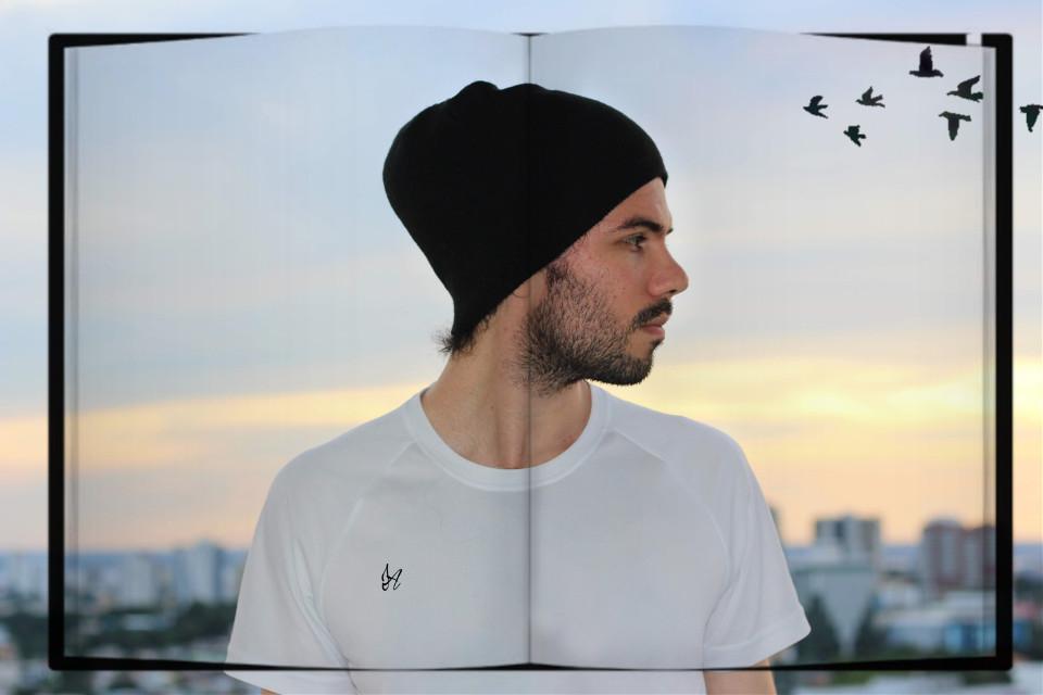 #freetoedit#man#sunset#birds#remix