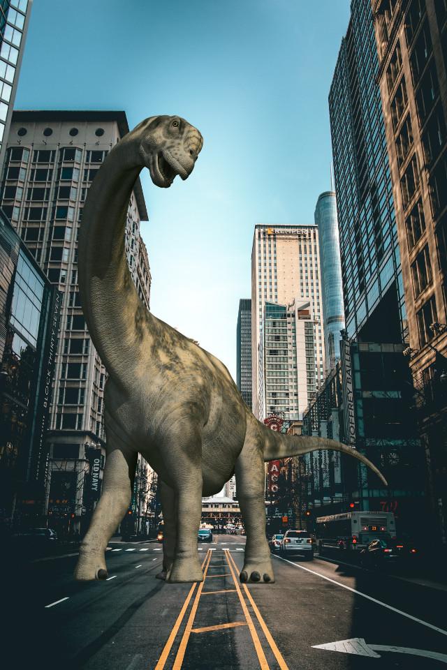 #freetoedit #challenge #animal #dino #dinosaur #dinosaurstickerremix #city #building #remix