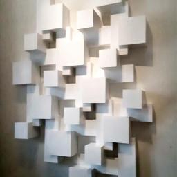 sculpture cubes wallart geometric modernart