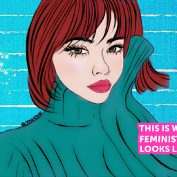 freetoedit feminism saturday art recolor