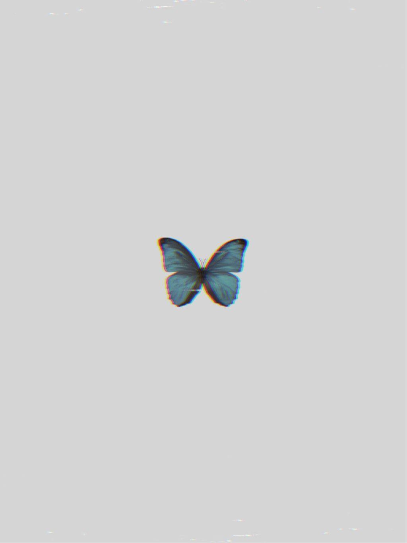 Freetoedit Butterfly Blue Vhs Wallpaper Aesthetic