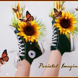 freetoedit sunflower shoes parietalimagination