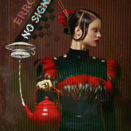 freetoedit nosignal error girl teapot