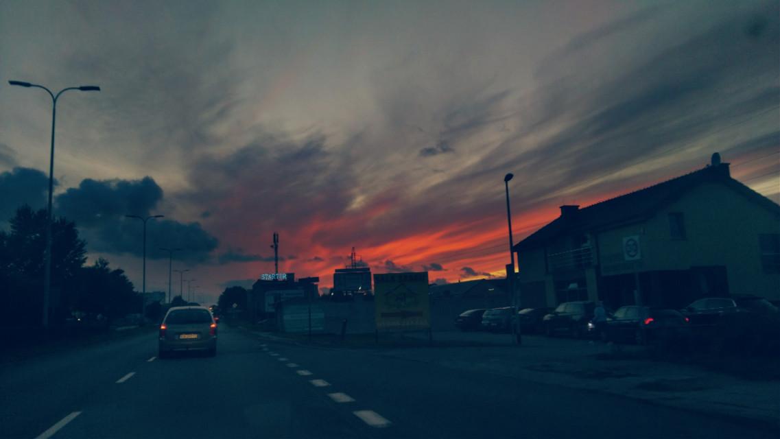 #sunsetsky ##photography #colorful #september2019 #naturephotography  #street #sunsetsilhouette