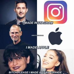 arianagrande joangrande instagram apple arianagrandememes