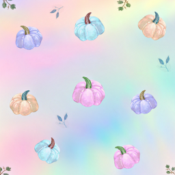 freetoedit pastelcolors pumpkin autumn background