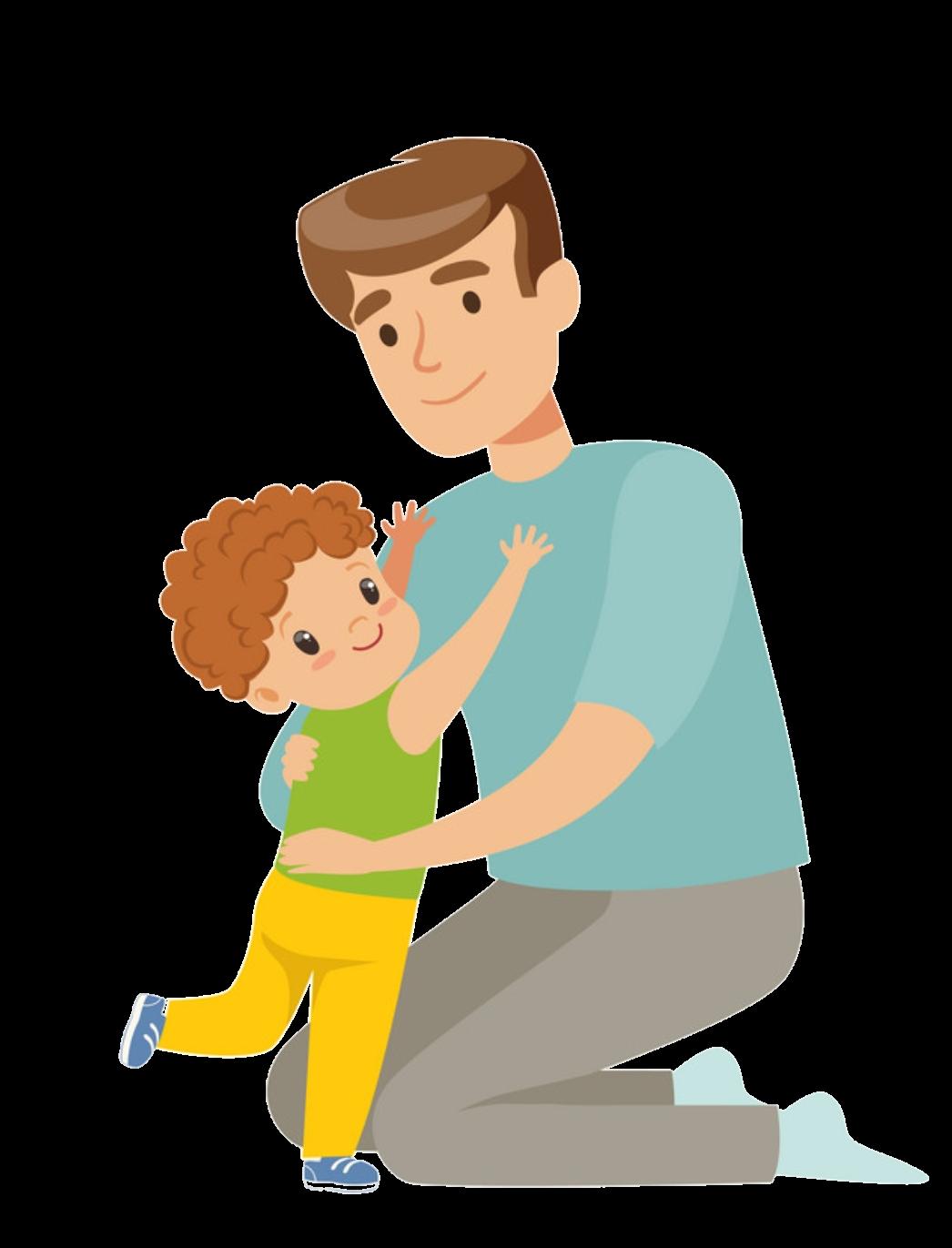Мультяшная картинка отец и сыночки после
