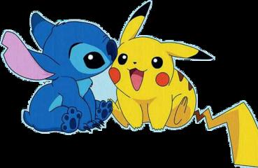 stitch picachu bestfriends freetoedit