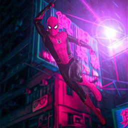 spiderman spidermanhomecoming purple night marvel