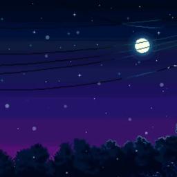 freetoedit wallpaper pixelart night midnight