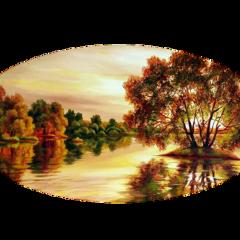ftestickers landscape scenery river trees freetoedit