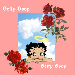 freetoedit bettyboop rosesticker