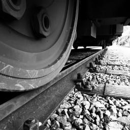 railway wheel blackandwhite rail