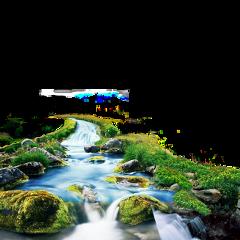 ftestickers landscape river waterfall freetoedit