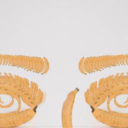 freetoedit bananaremix bananaportrait bananabrows eyes ircbanana