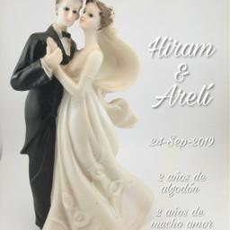 weddinganniversary anniversary 2years cottonyears freetoedit