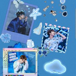 freetoedit jungkook blue aestheticblue loveyourself