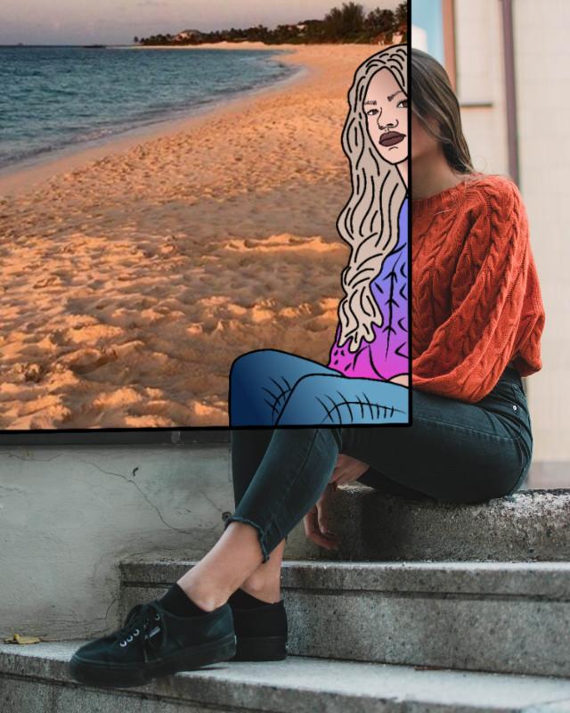 #tutorial : https://youtu.be/3WhT96syQ5w  #art #doodle #photography #faceart #freetoedit @picsart