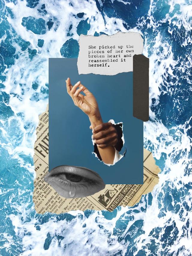 #freetoedit #aesthetic #sea #hands #layout #blue