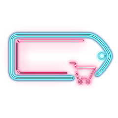 ftestickers frame tag shoppingcart neon freetoedit