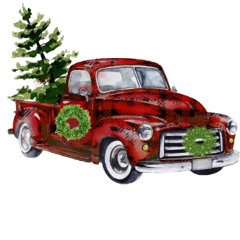 freetoedit truck plaid tree christmas