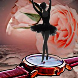 freetoedit pinkremix ballet ballerina watch ircpinkremix