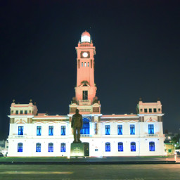 faro architecture night monument puerto