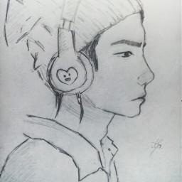 suga art pencilart boy bts