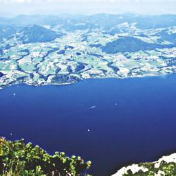 lake onthemountain hiking town landscape