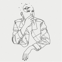 freetoedit outline outlinedrawing outlineart portrait daydream