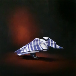origami bird oilpainting candy whimsical