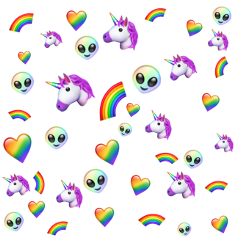 rainbow emoji background freetoedit