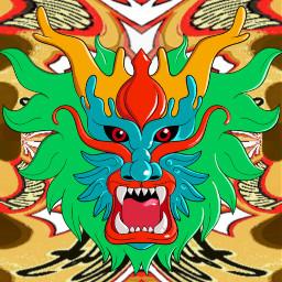 freetoedit freebeer cylindermirror mirror dragon