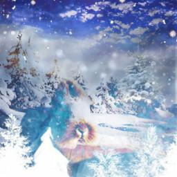 remixed fun snowflakes snowwhite snow freetoedit