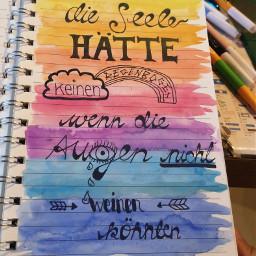 handlettering spruch rainbow f4f follow4follow