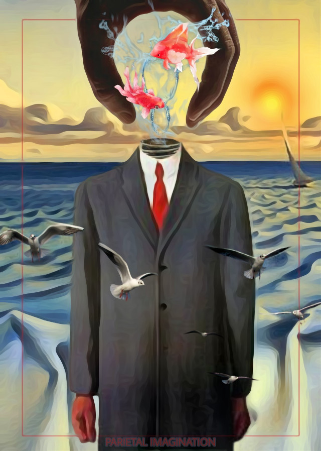 VOTING LINK: https://picsart.com/i/307516449106201?challenge_id=5d8df78dd9c60453f5f83cb7  Edit by: Parietal Imagination Art  @pa, Rene Magritte Remix #surrealism #surreal #sun #sky #sea #birds #fx  #sonofman #freetoedit #srcunderwater #vip #madewithpicsart #parietalimagination  💗💗💗💗💗