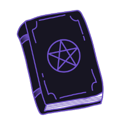 freetoedit book black macig witch scary ftestickers