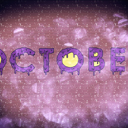 october modified letters painted effects freetoedit ircoctoberishere