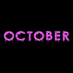 october slime pink purple text freetoedit