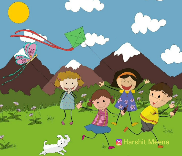 Children flying kites 🚫Do not copy🚫 #kite #patang #uttarayan #originalwork  #kids #cartoon #kidsplaying #kiteflying #fun #childhood #memories #nostalgia #nostalgic #cute #love #children #playtime #childish #childhoodfriends #kitefestival #followme #followers #follow_me #followoninstagram #followmeoninstagram #winner #winnercircle