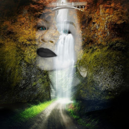 freetoedit beautyful nature woman doubleexposure