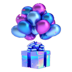 party balloons birthday magic freetoedit