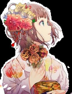 girl flower freetoedit scdriedflowers driedflowers