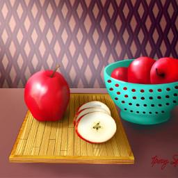 freetoedit mydrawing apples colander bowl dcmyfavfruit