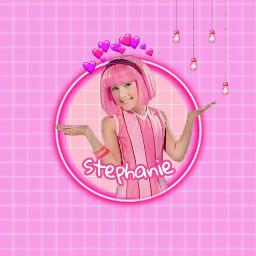 lazytown stephanie lazy pink freetoedit