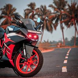 freetoedit bike palmstree background blureffect photography road picsarteffects bluredit