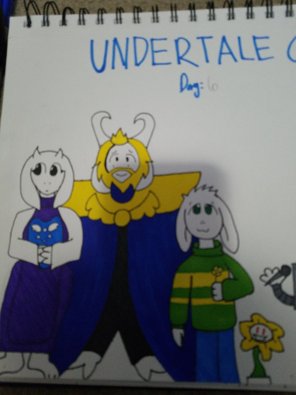 #undertalechallenge #challengeaccepted The Dreemurr family has been completed. I'll try and finish the challenge today...