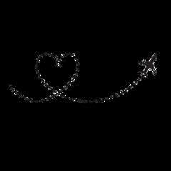 ftestickers airplane heart heartshaped silhouette freetoedit