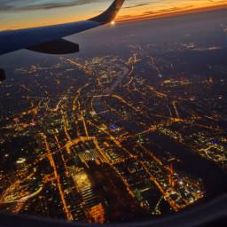 pcafterdark afterdark airplane window citylights